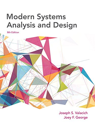 Modern Systems Analysis and Design (8th Edition) by Pearson