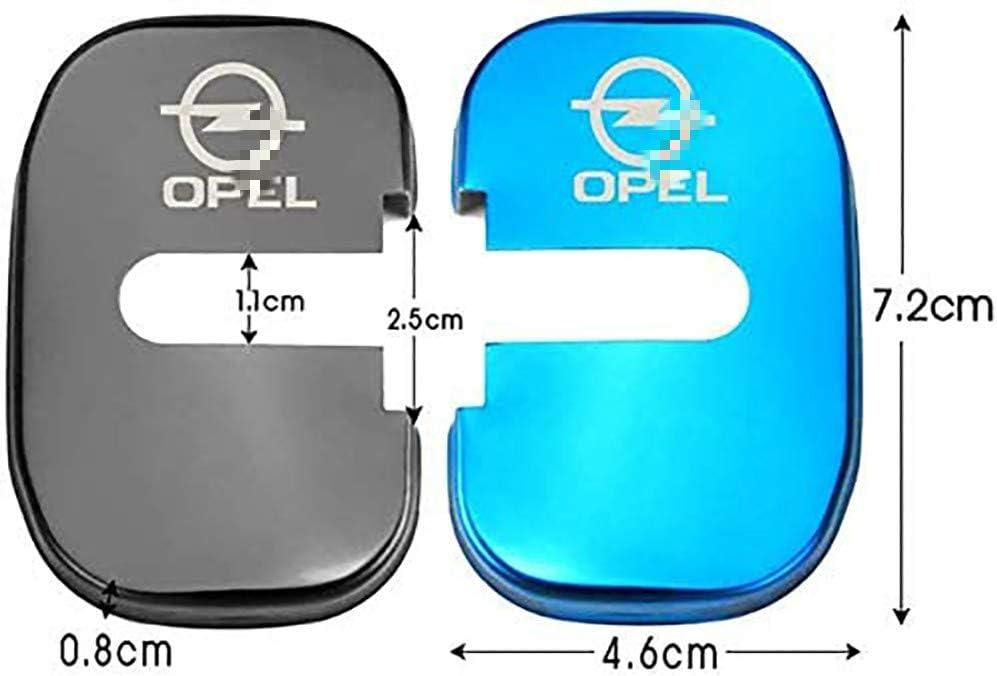 N//A 4Pcs Car Styling T/ürschlossabdeckung F/ür Opel Insignia Astra GTC Door Lock Cover T/ürschloss-Schlie/ßkappe Edelstahl Auto Protection Zubeh/ör