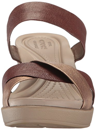Plates Leather Wedge Bronze Crocs Leigh formes Ann ZdwtaqBtT