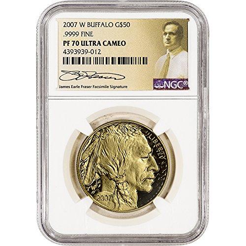 Buffalo Proof Gold - 2007 W American Gold Buffalo (1 oz) Proof NGC Fraser Label $50 PF70 NGC UCAM