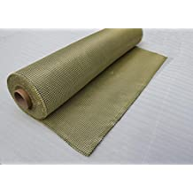 ZJ SPORT Kevlar Fabric 3K 185g Plain Weave 0.2mm Thickness 39 inches×39 inches Kevlar Yarn Weave Cloth