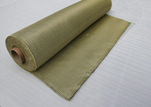 ZJ SPORT Kevlar Fabric 3K 200g Plain Weave 39 inchesX39 inches Kevlar Yarn Weave Cloth Kevlar Fabric