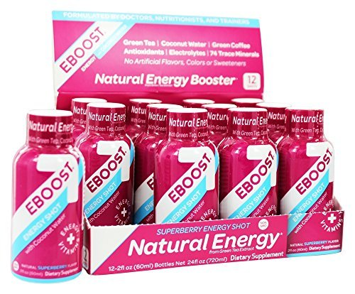 Eboost - Natural Energy Shot Super Berry - 2 oz. by uhsupply.com