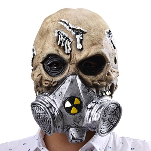 Scary Gas Mask Halloween Costume (Halloween Scary Creepy Biochemical Gaz Masks Horrific Demon Cosplay Props Costume Mask)