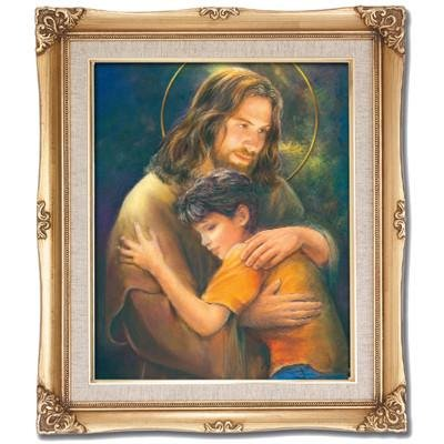Jesus with Child Framed Art by Discount Catholic Store