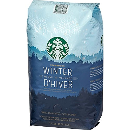 Starbucks Winter Blend Melange D'Hiver Whole Bean Coffee, 40 OZ