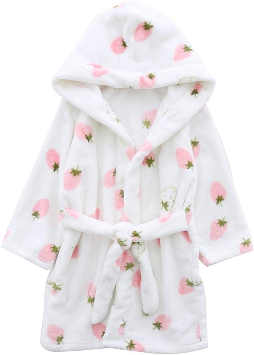 Women XL Boys Girls Toddler Baby Flannel Soft Bathrobes Betusline Kids /& Adults Robe 18 Months