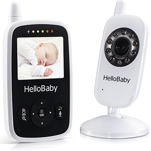 video baby monitor hellobaby digital 2 4ghz wireless video monitor with temperature monitor. Black Bedroom Furniture Sets. Home Design Ideas