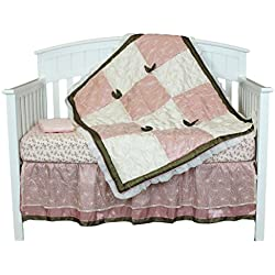 Charlotte 9 Piece Baby Girl Crib Bedding Set For Girls by Belle