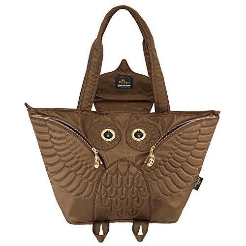Bag Flying Ow Morn 401 301 Owl Creations Brown Tote 7qYtYwU