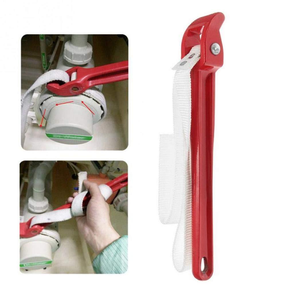 Angoter 1PCS Strap Chiave Registrabile di Nylon del Filtro dellolio Strap Chiave Rimozione e Installazione di Olio Filtro Strumenti di Alluminio
