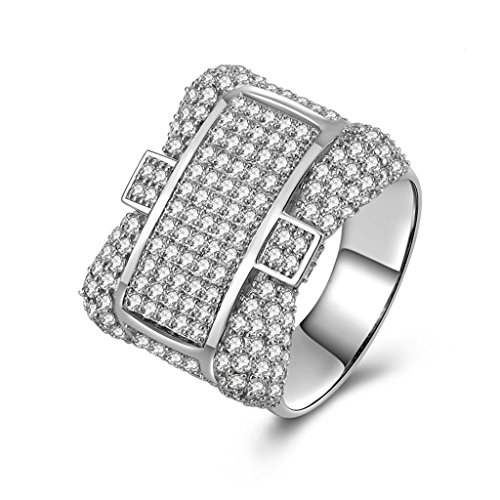 Gnzoe Jewelry, Men Wedding Ring Cross Band Shape For Bf Cubic Zirconia, Customized Ring by Gnzoe