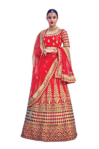 PCC Indian Women Designer Wedding red Lehenga Choli K-4535-39599