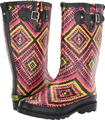 (Western Chief Women's Kaleidoscopica Rain Boot Black 10 M US)