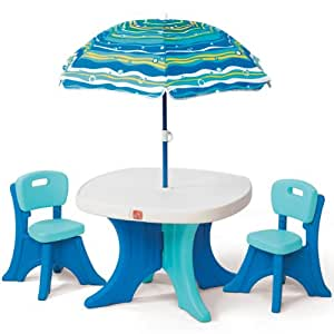 Amazon Com Step2 Play And Shade Patio Set Toys Amp Games