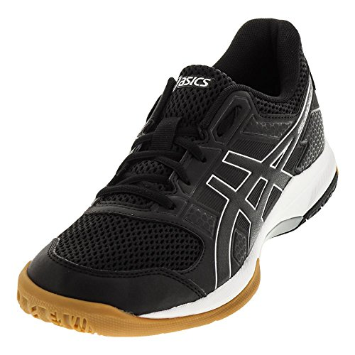 ASICS Women's Gel-Rocket 8 Volleyball-Shoes, Black/Black/White, 8.5 Medium US (Woman Shoes Tennis Asics)