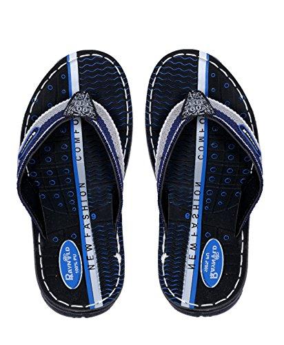 IndiWeaves Boy PU Leathher Flip Flop House Slipper And Sandal-Blue