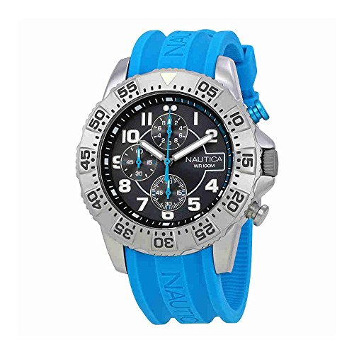 Nautica Chronograph Gray Dial Sports Mens Watch NAI16511G