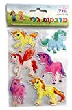Unicorn Beautifully Illustrated  Characters Removable Jelly Stickers – Great For Art Windows Cell Phones, Albums Birthday Prize and Awards