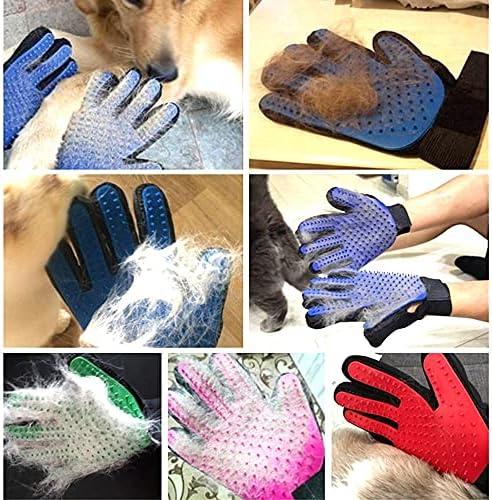 1 paire de gants en fourrure pour chat - Gant de toilettage perser Birma Cat (vert).
