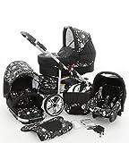 Milk Rock Baby Rock Baby Kinderwagen Komplettset (Autositz & Adapter, Regenschutz, Moskitonetz,...