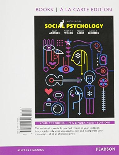 Social Psychology (Looseleaf)