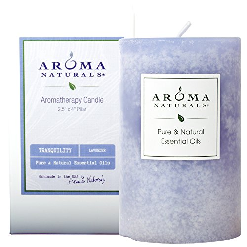 (Aroma Naturals Essential Oil Tranquility Pillar Candle, 2.5