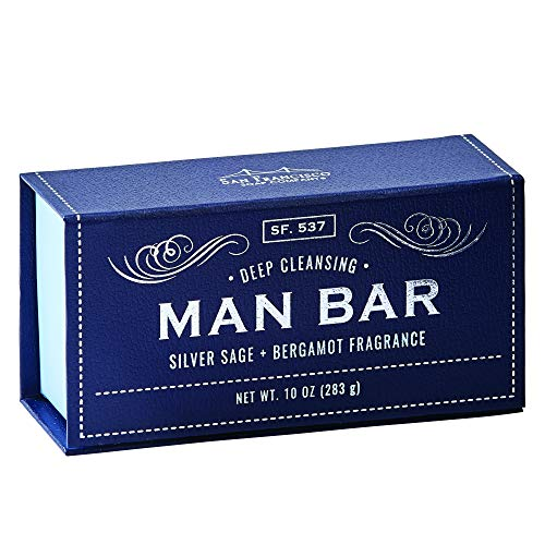 - San Francisco Soap Company Deep Cleansing Man Bar, Silver Sage & Bergamot, 10 Ounce