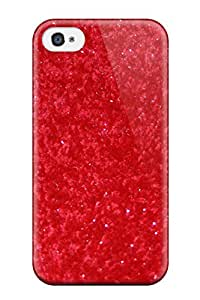 Awesome IFIhoMJ8488giFTl ZippyDoritEduard Defender Tpu Hard Case Cover For Iphone 4/4s- Glittery Solid Red