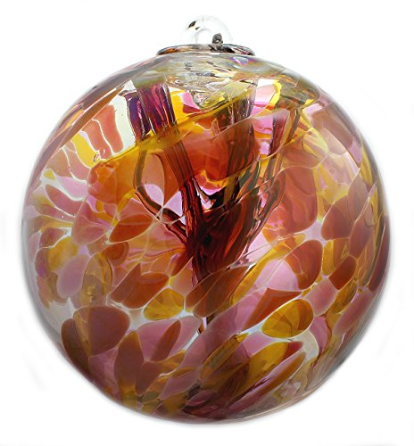 - Witch Ball Marigold (Iridized) XL 8 Inch by Iron Art Glass Designs