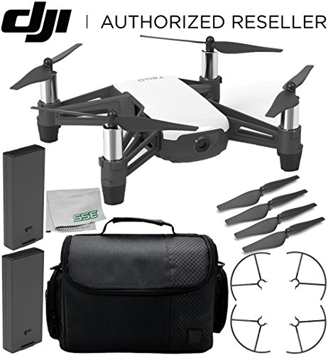 Ryze Tello Quadcopter Drone with HD Camera and VR – Powered by DJI Technology and Intel Processor Essential Travel Bundle