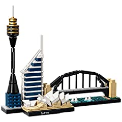 Recreate the architectural magnificence of Sydney with this realistic LEGO. brick model. The LEGO Architecture Skyline Collection offers models suitable for display in the home and office, and has been developed for all with an interest in tr...