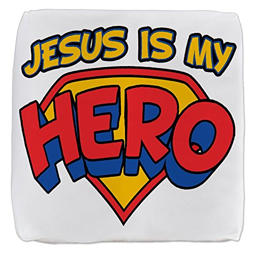 18 Inch 6-Sided Cube Ottoman Jesus Is My Hero by Royal Lion