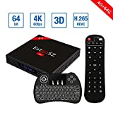[2018 Newest 4G 64G Android TV Box+Backlit wireless keyboard] EstgoSZ Android 7.1 TV BOX RK3328 4K Smart TV Box Support 2.4G/5G Dual Wifi/100M LAN/BT 4.0/3D /H265