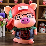 Kawaii Cute Pig Piggy Bank Resin Personalized Baby Nursery Decor Home Furnishing decoration Wear glasses Cool