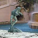 19 lbs. Heaveweight Bronze Leaping Frog Garden Statue