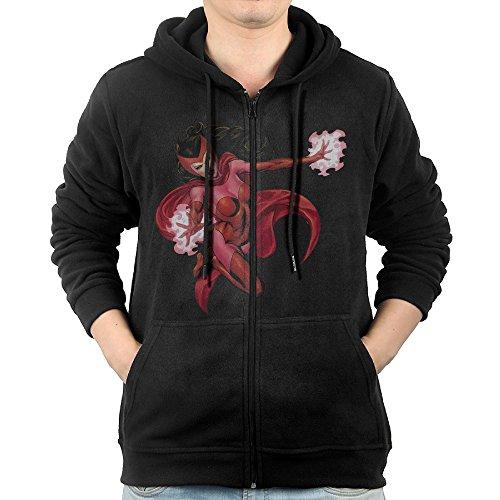 [Celets Magic Witch Girl Men's Cool Long Sleeve Zipper Sweater XL Black] (Grumpy Cat Costume Ideas)