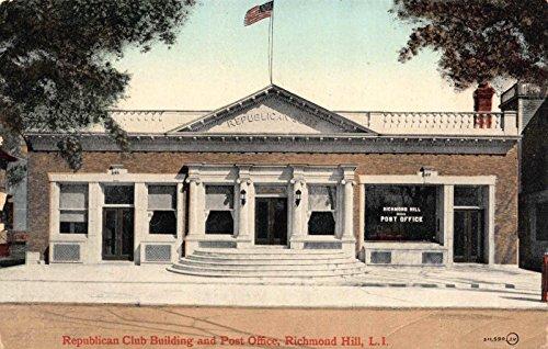 PC Republican Club Bldg Post Office Richmond Hill Long Island New York~117713