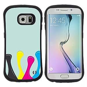 "Hypernova Slim Fit Dual Barniz Protector Caso Case Funda Para Samsung Galaxy S6 EDGE [Diseño Amarillo Rosa Azul""]"