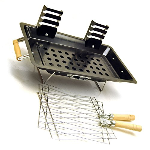 Steel hibachi charcoal grill / barbecue for camping / gardens / patios etc CMP11 by A B Tools