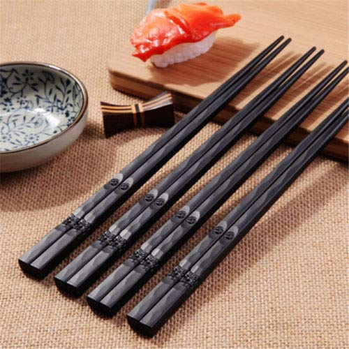 Creative 1 Pair Chopsticks Alloy Non Slip Sushi Chop Sticks Chinese Gift Memory Souvenir - -