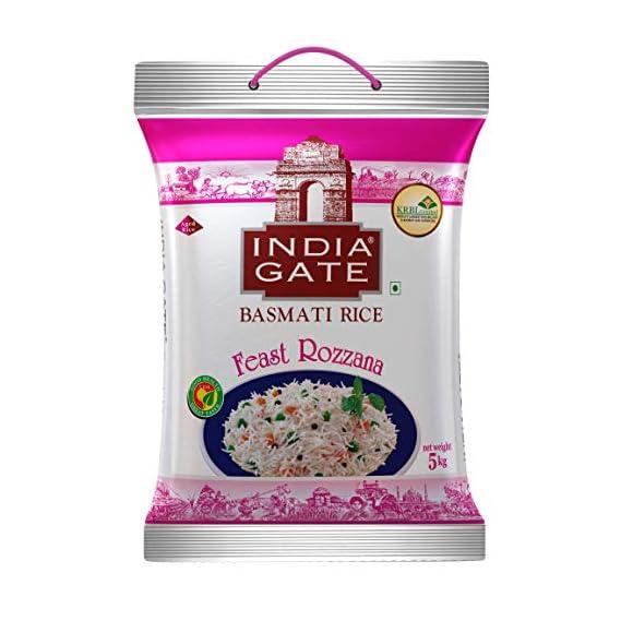INDIA GATE Feast Rozanna Aged Basmati Rice   Everyday Rice, 5 Kg Pack