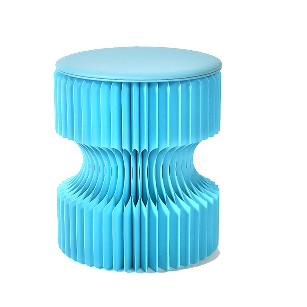 bluee ZHAOYONGLI Stools Footstool Step Stools Work Stool Multifunction Creative Organ Folding Household Paper Multicolor Selection 30  30  38cm Creative Solid Durable Long Lasting (color   Yellow)
