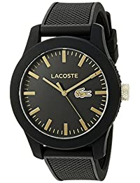 Lacoste Men's 2010818-12.12 Analog Display Japanese Quartz Black Watch