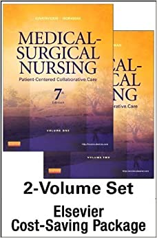Book Medical-Surgical Nursing -- Two-Volume Text and Elsevier Adaptive Quizzing Package, 7e 7th Edition by Ignatavicius MS RN ANEF, Donna D., Workman PhD RN FAAN, (2014)