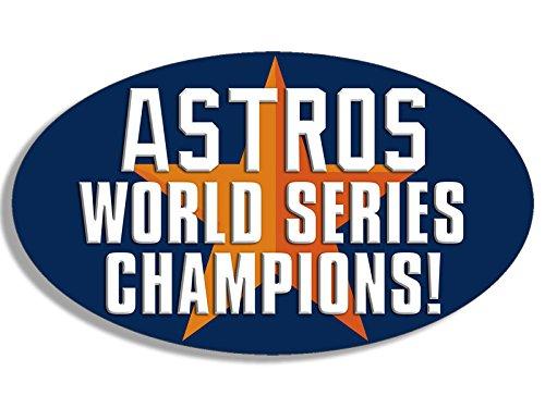 (American Vinyl Oval Astros World Series Champions Sticker (Houston Star MLB Bumper))