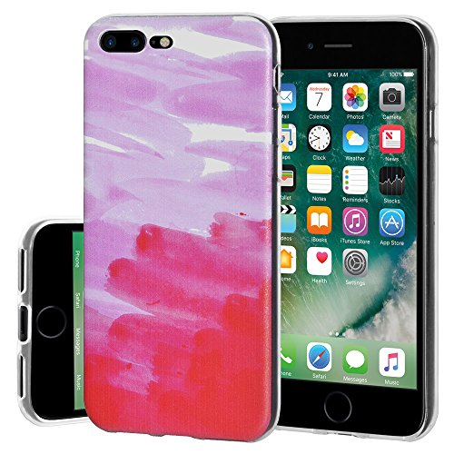 "Amzer Coque ""Abstrait Rose en gel souple en TPU pour Apple iPhone Transparent 7 Plus"
