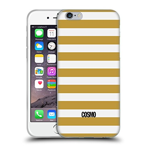 Official Cosmopolitan Gold Stripes Collection Soft Gel Case for Apple iPhone 6 / 6s