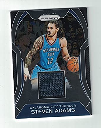 official photos d293a dcf4f 2017 Panini Prizm Authentic Steven Adams Game Worn Jersey ...