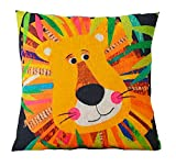 The Beach Stop Cartoon Animal Creative Designs Cushion Covers (Jungle Lion)